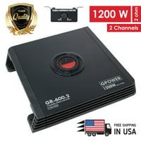 New Gravity 2 Channels 1200 W Amp Class A/B Car Audio Stereo Amplifier | GR600.2