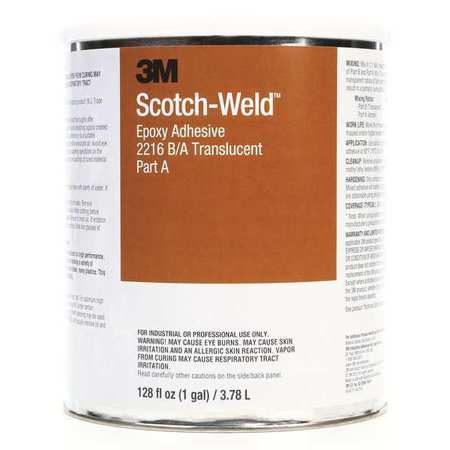 3M 2216 Epoxy Adhesive, Kit, 1 gal, Translucent, PK2 by 3M