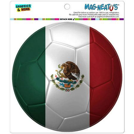 Football Shaped Car Flag (Mexico Flag Soccer Ball Futbol Football Automotive Car Refrigerator Locker Vinyl Magnet )
