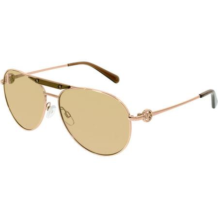 Michael Kors Women's Zanzibar MK5001-1003R1-58 Gold Aviator Sunglasses