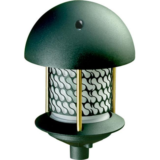 Dabmar Lighting D8150-G Cast Aluminum Round Top Pagoda Light, Green by Dabmar Lighting