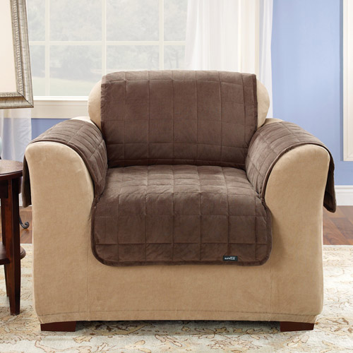 Surefit Quilted Velvet Deluxe Chair Pet Throw Cover