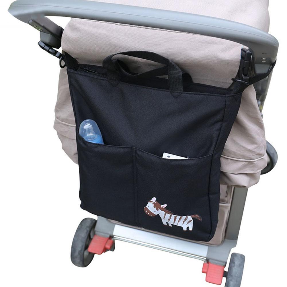 Girl12Queen Cartoon Animals Baby Stroller Hanging Bag Large Capacity Carriage Hangbag