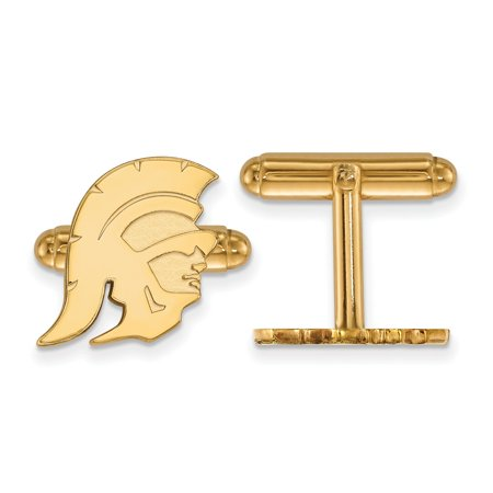 Gold-Toned University of Southern California Cuff Link (16mm x 16mm) ()
