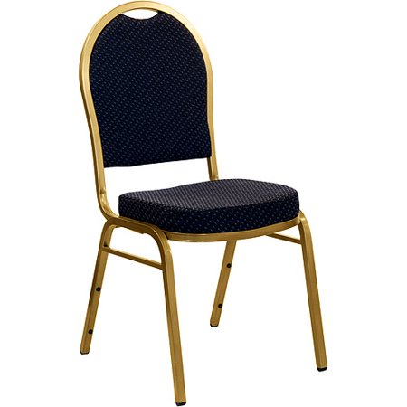 Generic Dome Back Stacking Banquet Chair Gold Frame Pack