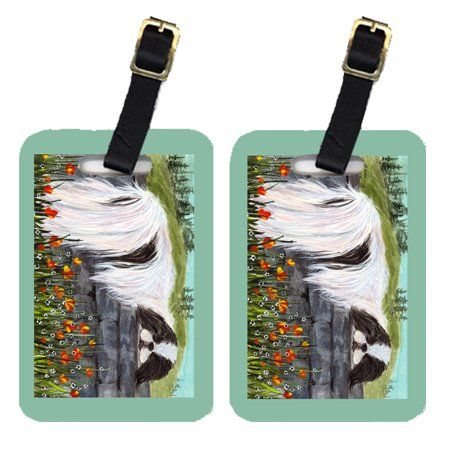 Chic Luggage Tags - Pair of 2 Japanese Chin Luggage Tags