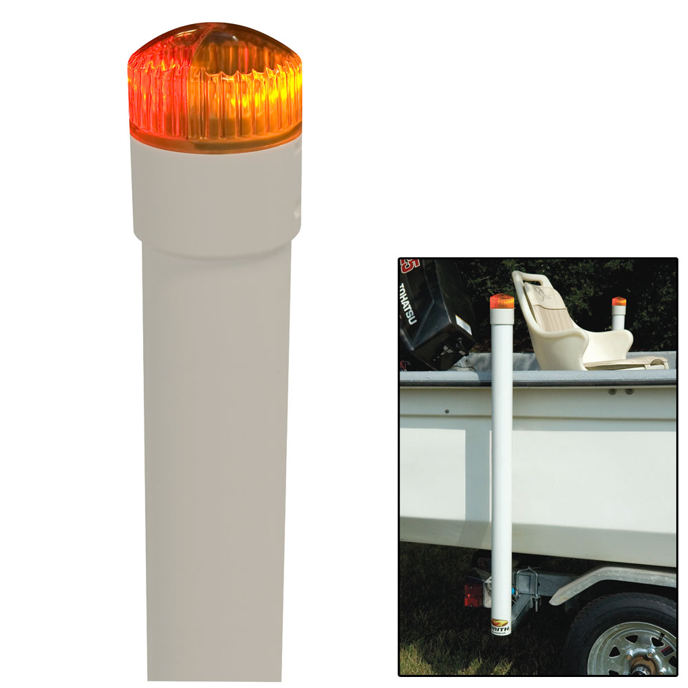 """""""C.E. Smith 44742M CE SMITH 60"""" POST BOAT GUIDE ON W  LED TOP LIGHT"""" by C.E. Smith"""
