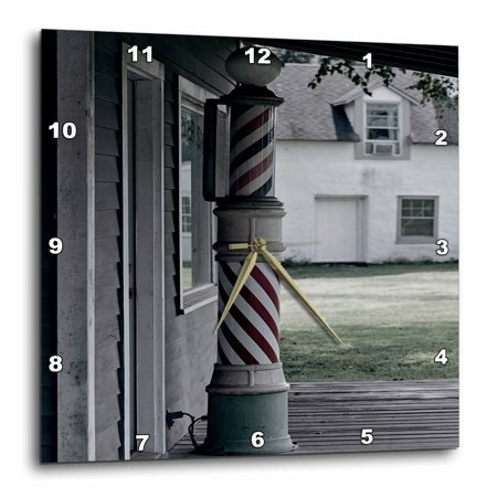 ... of an old barber shop poll, Wall Clock, 13 by 13-inch - Walmart.com