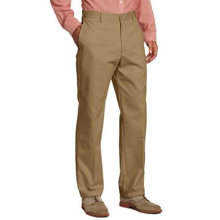Classic Chino (IZOD NEW Brown Mens Size 33x32 Khaki Chino Classic Fit Flat Front Pants)