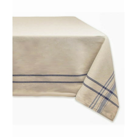 Table Striped (DII Nautical Blue French Stripe Tablecloth, 60x84