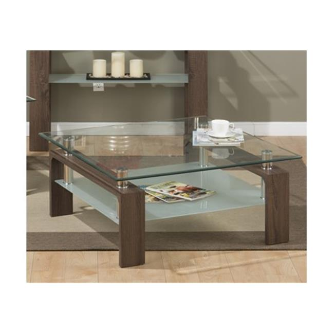 Jofran 198-2G Compass Cocktail Table, Square Tempered Glass Top Only by Jofran