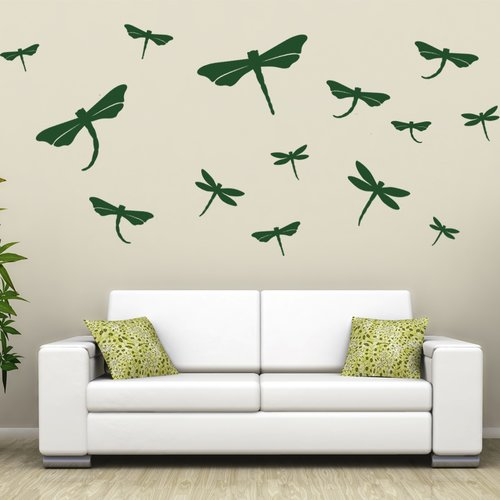 Style and Apply Dragonfly Set Wall Decal