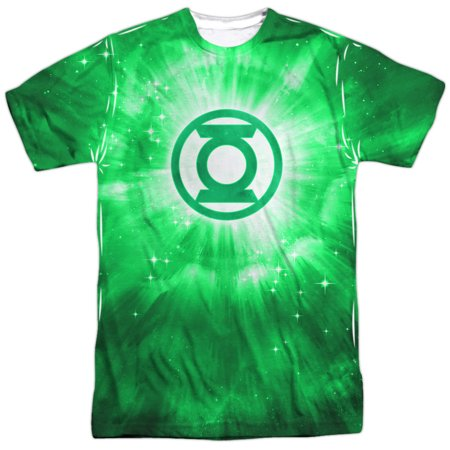 Superhero Glowing Space Logo Adult 2-Sided Print T-Shirt - Adult Space