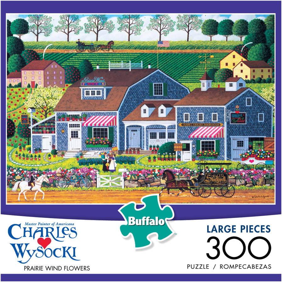 Charles Wysocki Prairie Wind Flowers Large Piece Puzzle, 300 Pieces
