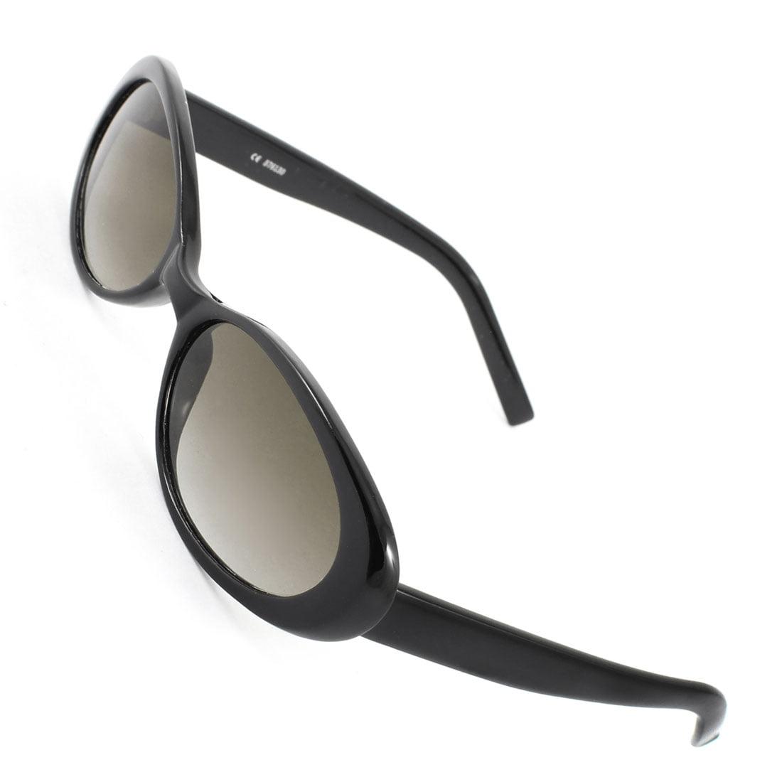 frame black lens single bridge sunglasses eyeglasses