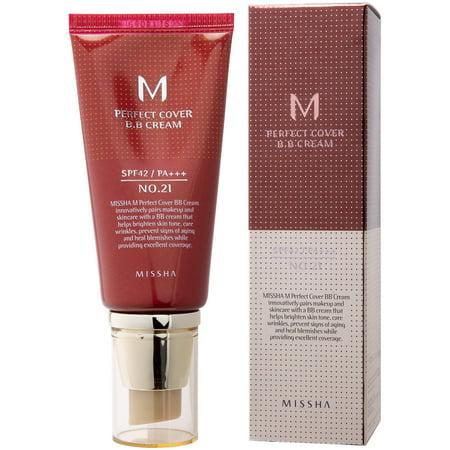 MISSHA M Perfect Cover BB Cream - #21 Light Beige, 1.69