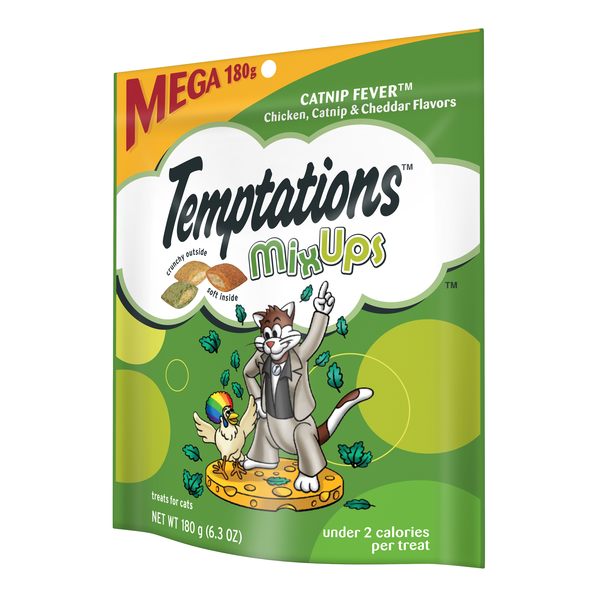 TEMPTATIONS MixUps Treats for Cats CATNIP FEVER Flavor 6.3 Ounces