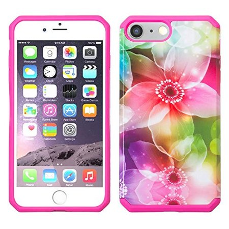 Apple iPhone 7 Plus Case, Slim Hybrid Dual Layer[Shock/Impact Absorption] Case for Iphone 7 Plus - Lily Pedals