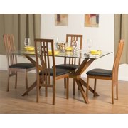 Greenwich Dining Table Set with District-2 Chairs in Cherry