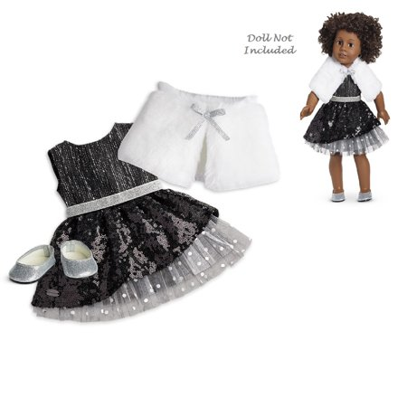 American Girl Truly Me Black Sparkle Outfit for 18