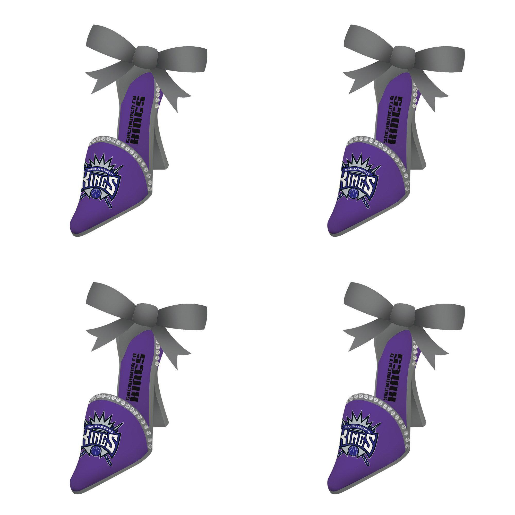NBA Sacramento Kings Team Shoe Christmas Ornament Bundle 4 Pack By Evergreen
