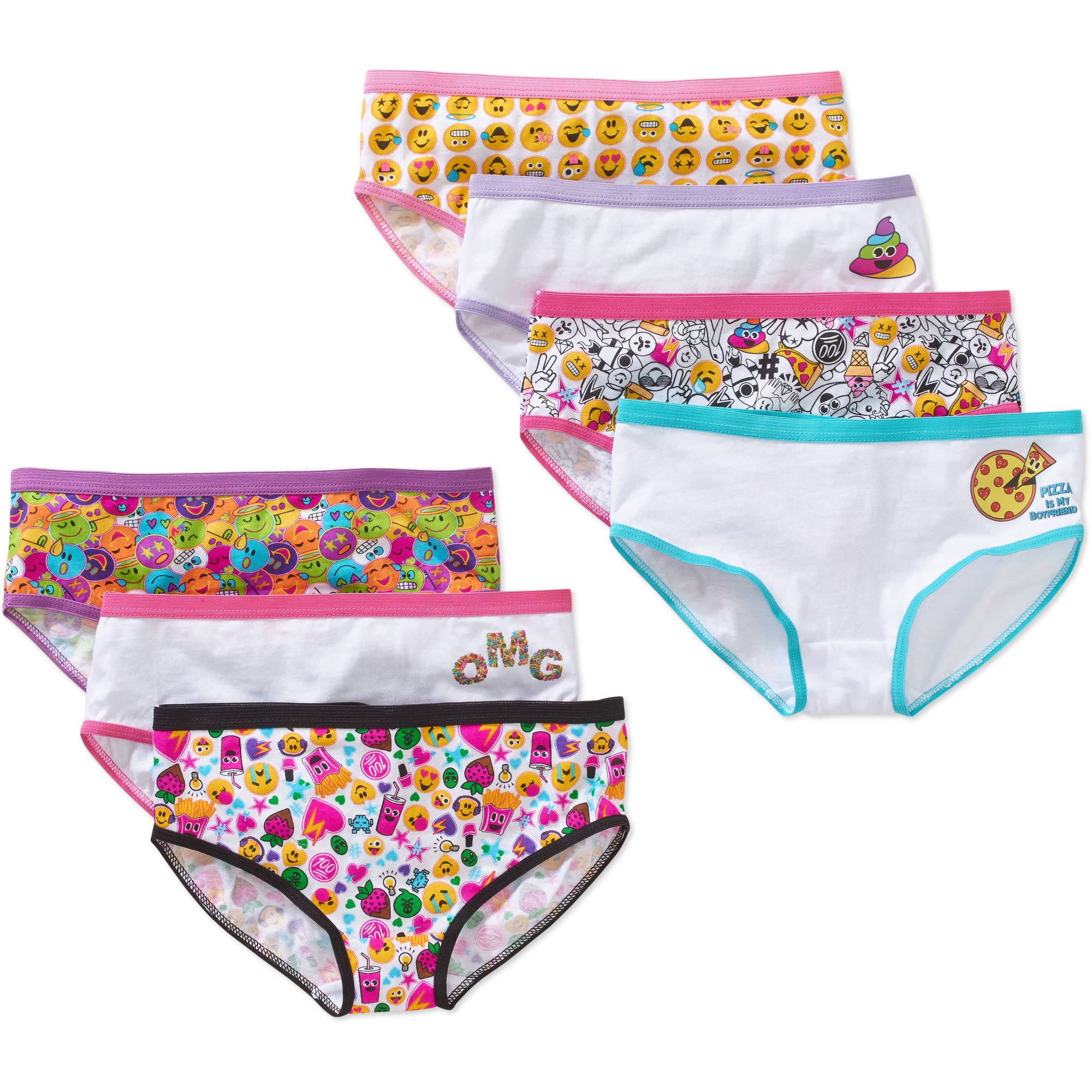 Girls' Hipster 7 Pack