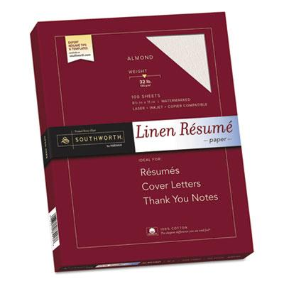 Southworth 100% Cotton Premium Weight Linen Resume Paper