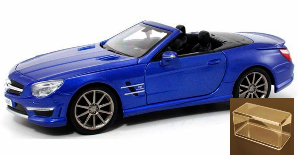 Diecast Car & Accessory Package Mercedes-Benz SL63 AMG Convertible, Blue Maisto 31503 1 24... by Maisto