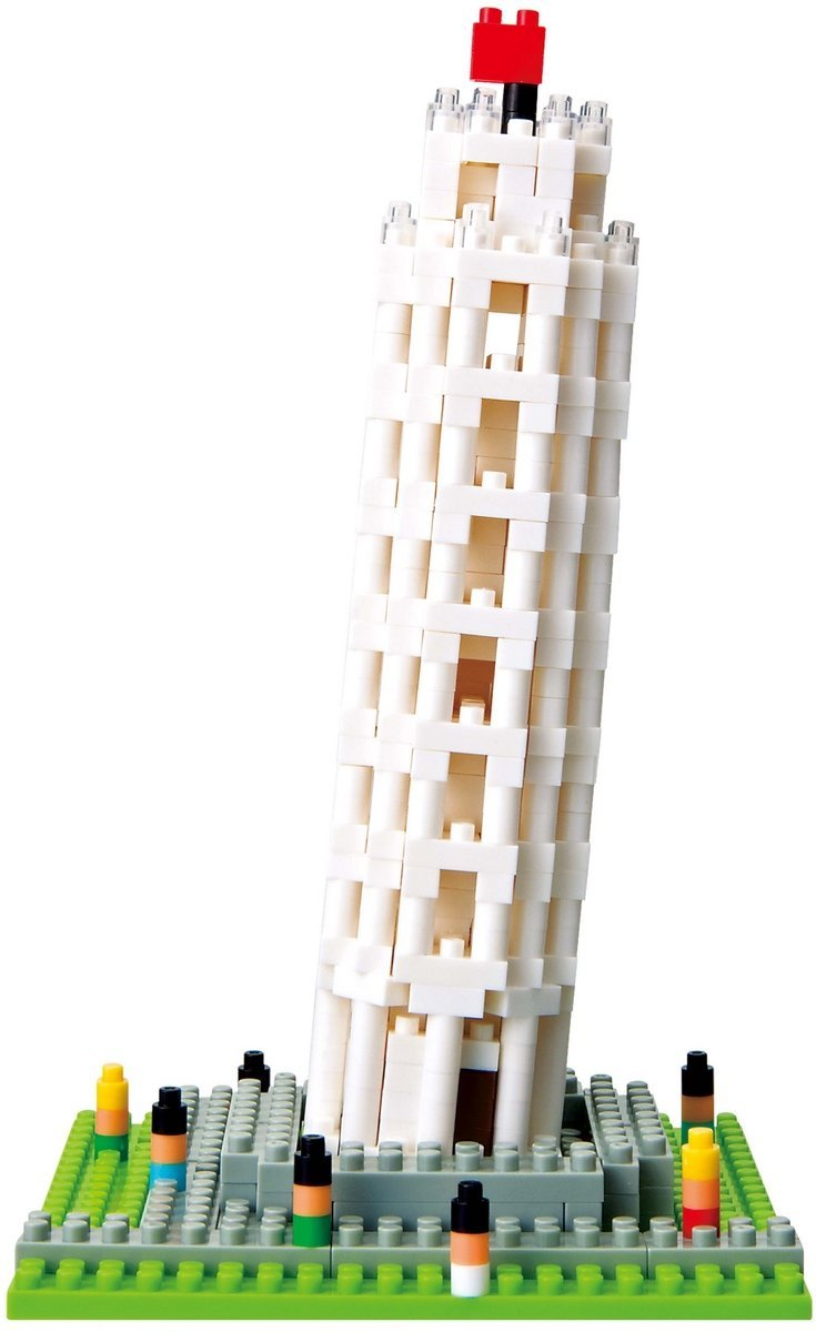 Nanoblock The Leaning Tower of Pisa Building Kit, Difficulty: 2 By Kawada by