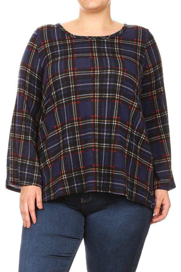 Women's Plus Size Trendy Style Long Sleeve Top