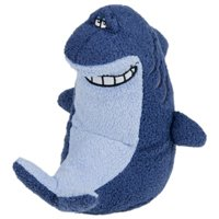Multipet Look Who's Talking Deedle Dudes 22348 Plush Singing Shark Dog Toy, 8 Inch