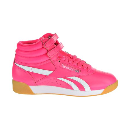 60a68c9a8a1 Reebok Freestyle HI SU Women s Shoes Acid Pink White cn7150