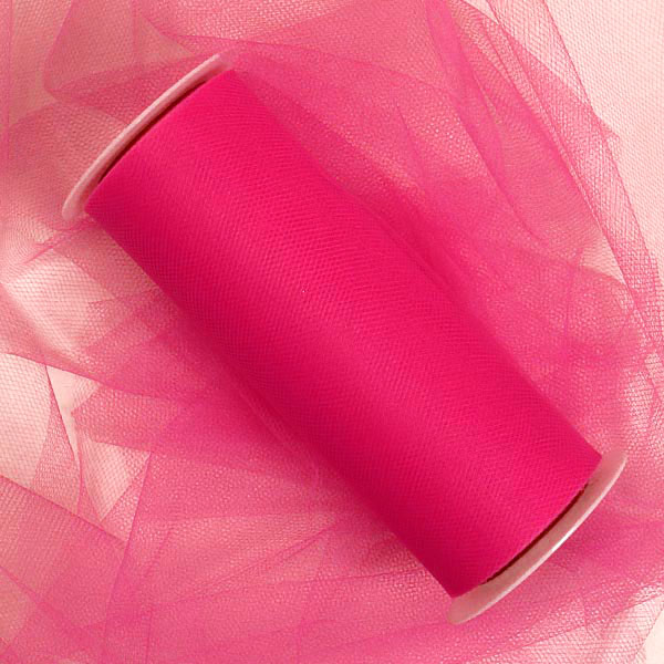 "Hot Pink Tulle 3"" X 25 Yards by Paper Mart"