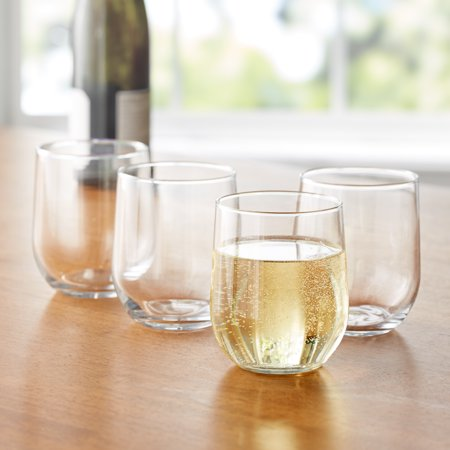 Mainstays 16.8-Ounce Stemless Wine Glasses, Set of 12 (Wine Preservation Set)