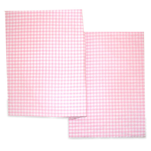 Seed Sprout Gingham Changing Pad Covers - Pink