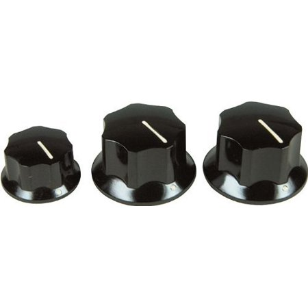 Jazz Bass Knobs - Black By Fender (Fender Rumble 100 Bass Amp For Sale)