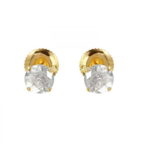 Foreli 1ctw Diamond 14k Yellow Gold Earrings Walmart Com