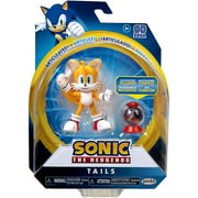 """Tails Articulated Sonic the Hedgehog Action Figure 4"""" with Fast Shoes Box"""