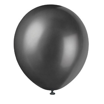 10 Pearlized Latex Balloons Shadow Black](Pearlized Balloons)