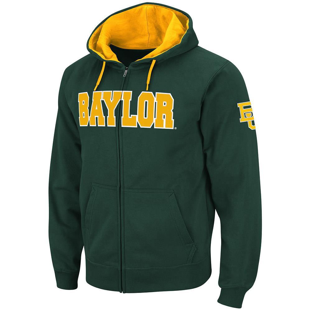 Mens Baylor Bears Full Zip Hoodie - S