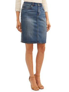 Sofia Jeans Margarita Side Stripe Pencil Skirt Women's