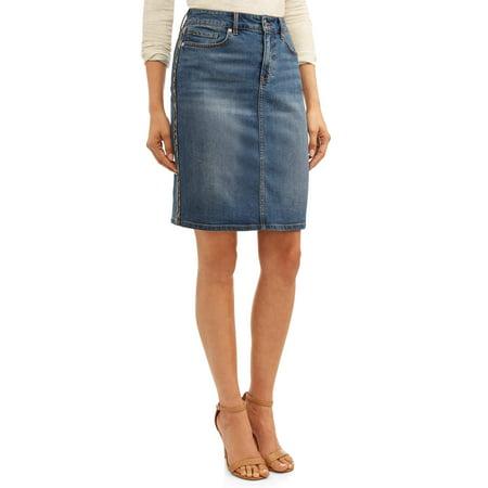 Sofia Jeans Margarita Side Stripe Pencil Skirt
