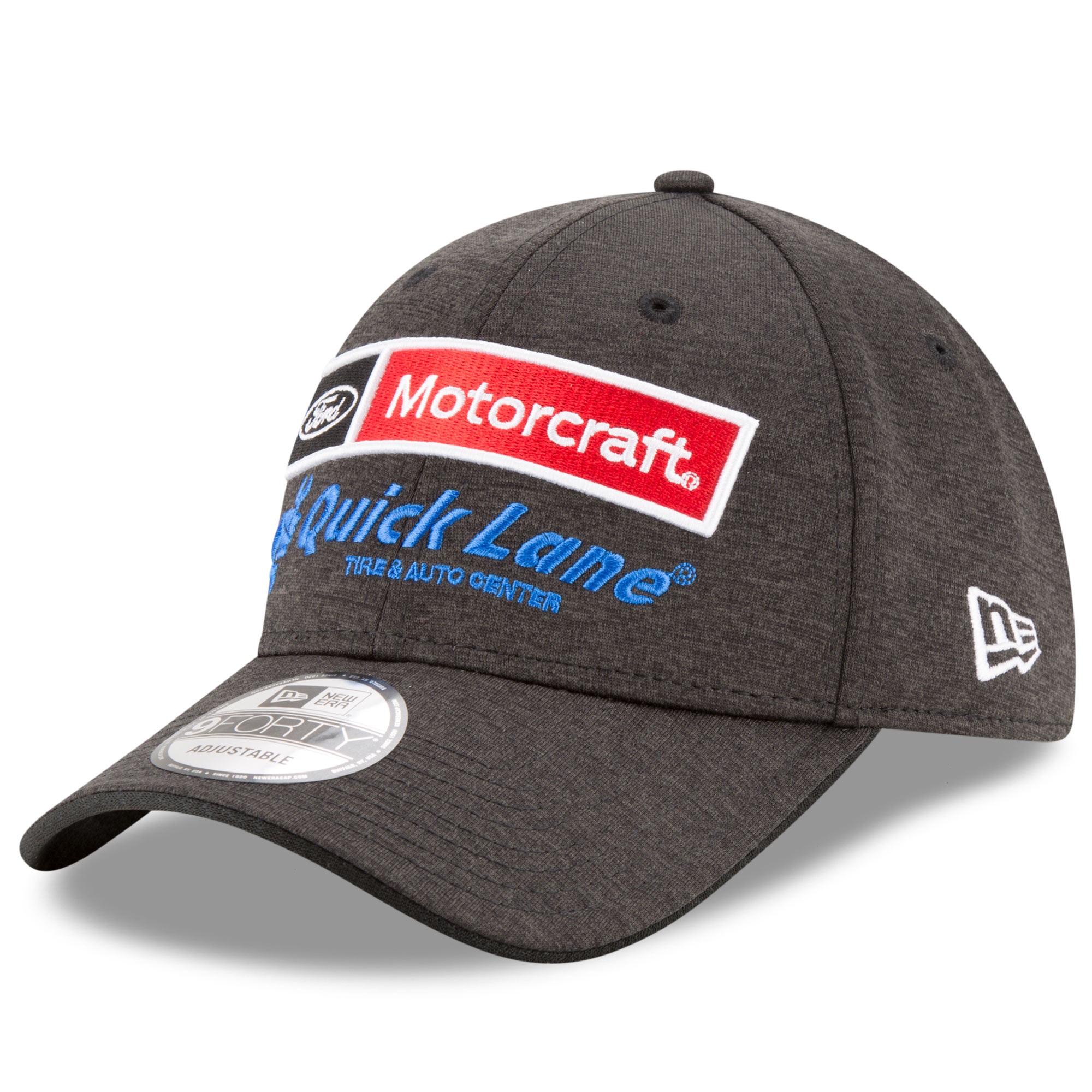 Ryan Blaney New Era Youth Motorcraft Driver 9FORTY Adjustable Hat - Heathered Black - OSFA