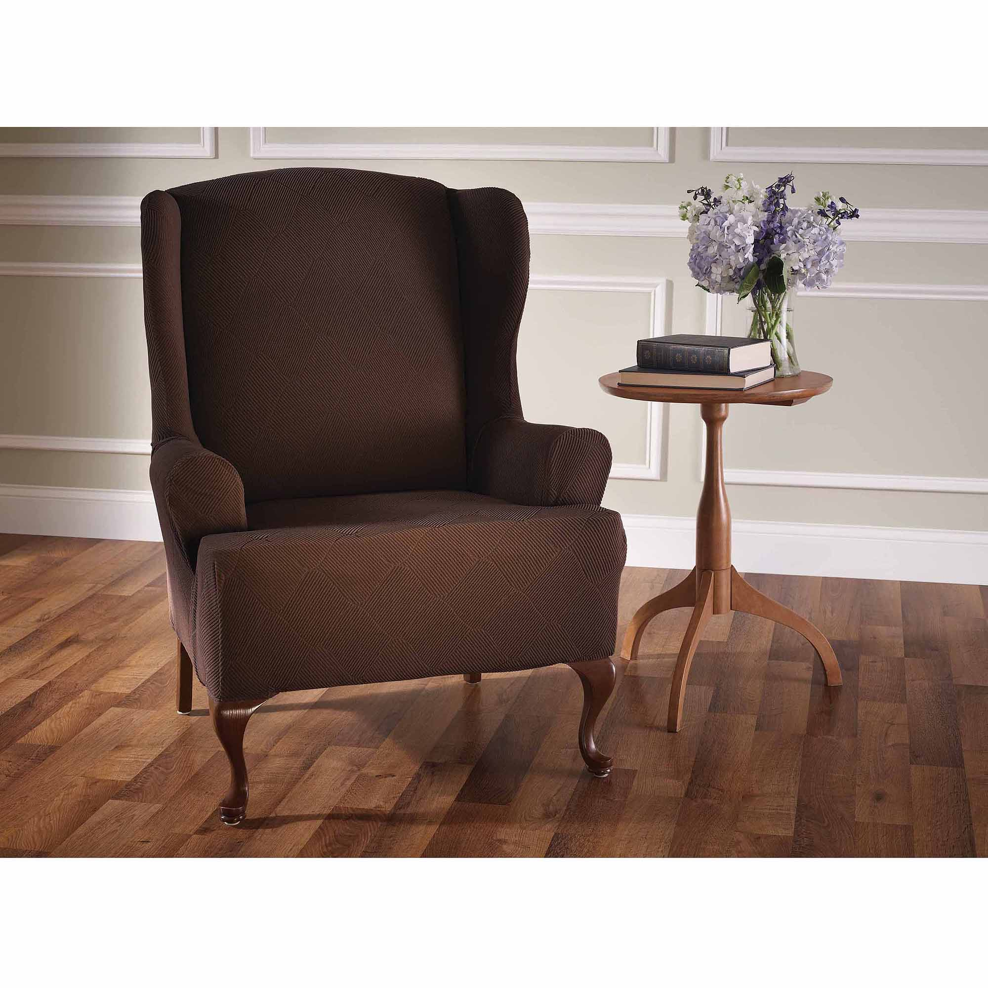Stretch Sensations Stretch Optics Slipcover Wing Chair