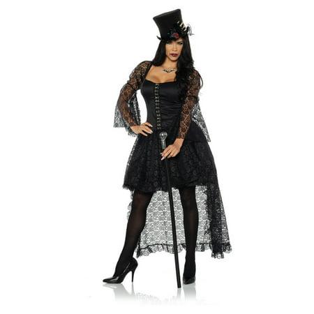 Halloween Costume Vampire Woman (Immortal Womens Adult Black Witch Vampire Gothic Halloween)