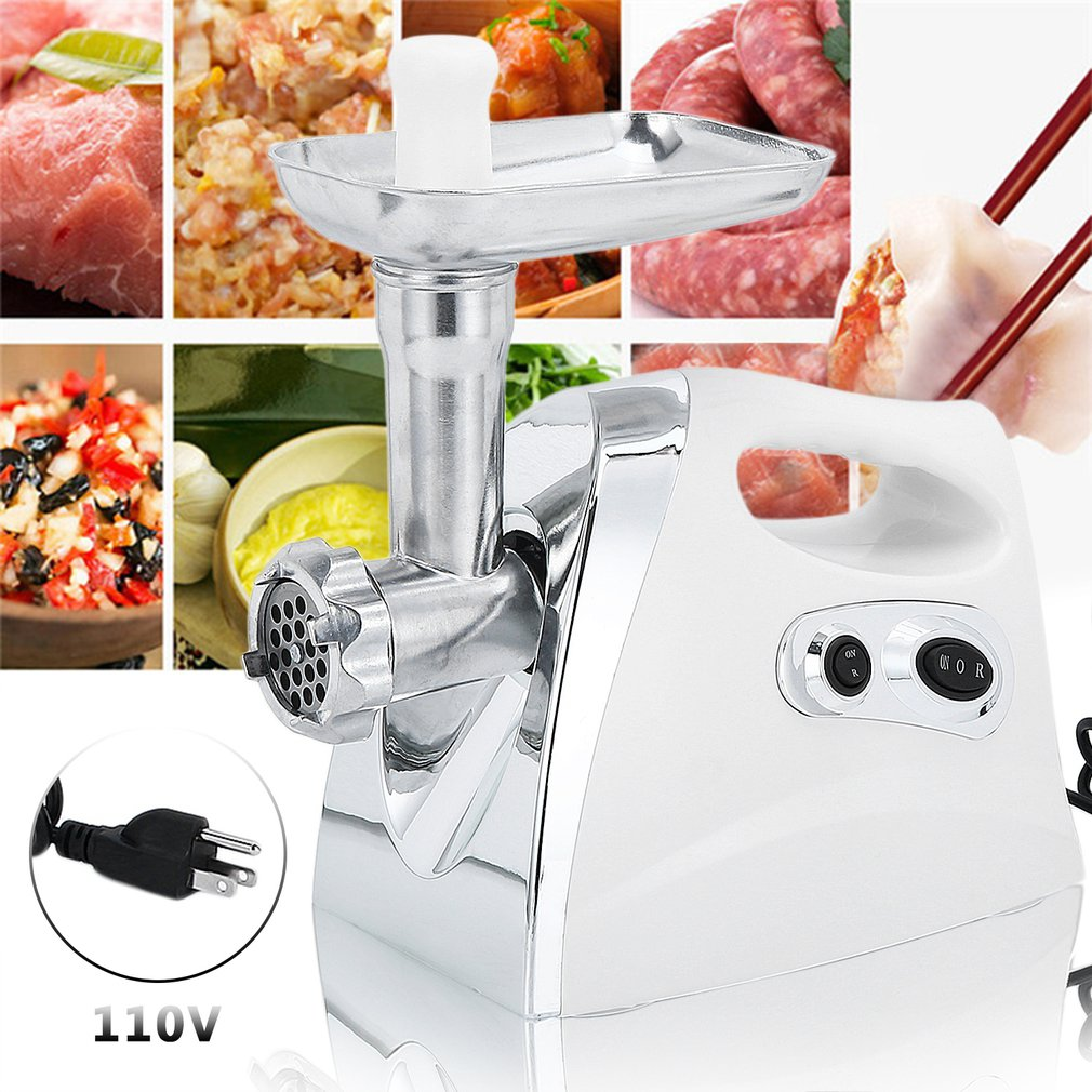 Electric Meat Grinder, Stainless Steel Meat Mincer & Sausage Stuffer,【2500W】Sausage Kit Included, Grinding Plates, for Home Kitchen & Commercial Use