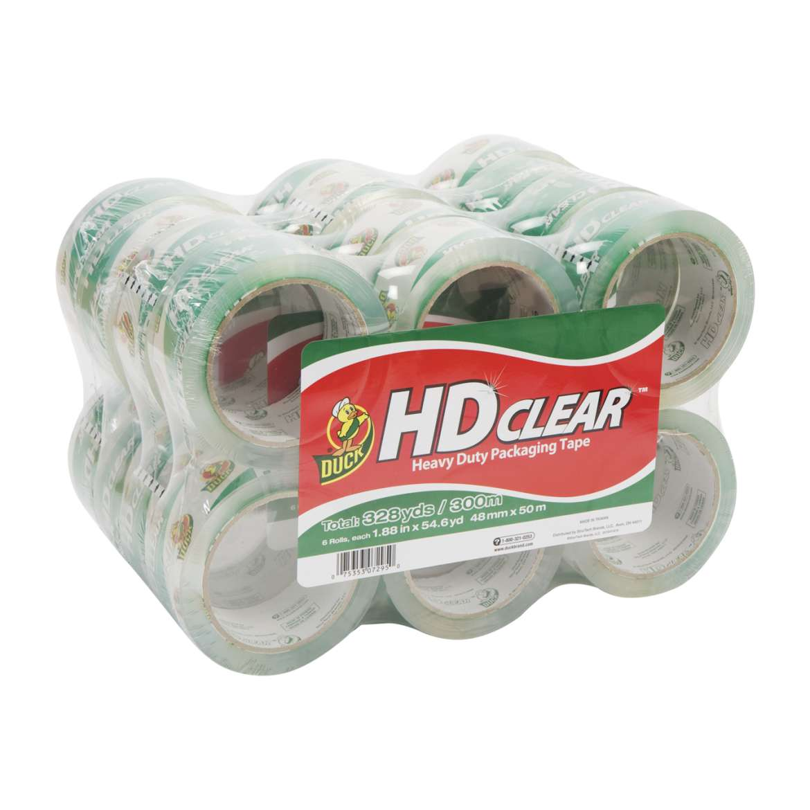 HD Clear Heavy Duty Packaging Tape - Clear, 24 pk, 1.88 in. x 54.6 yd.
