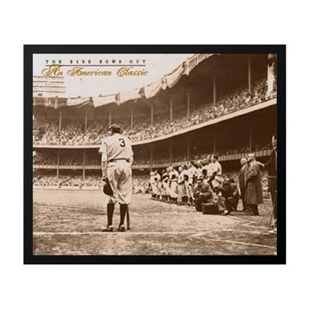 buyartforless The Babe Bows Out An American Classic C.1948 Framed