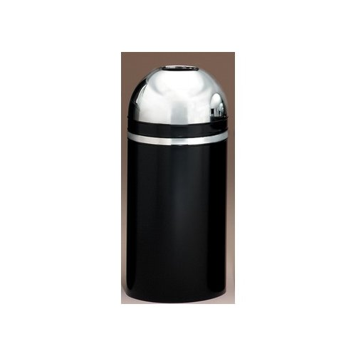 Witt Dome Top 15-Gal Metal Series Monarch Open Top Trash Can