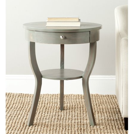 Safavieh Kendra Contemporary Round Pedestal End Table with Drawer